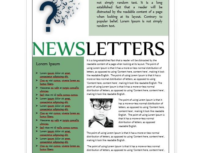 Sample School Newsletters  Free Template Downloads
