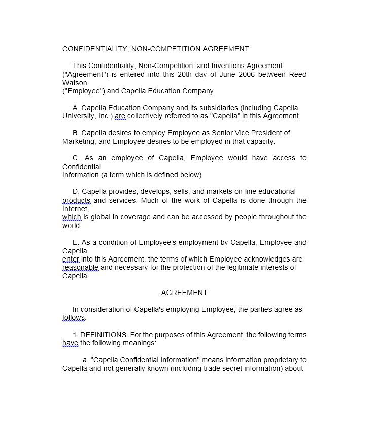 39 Ready To Use Non Pete Agreement Templates – Free