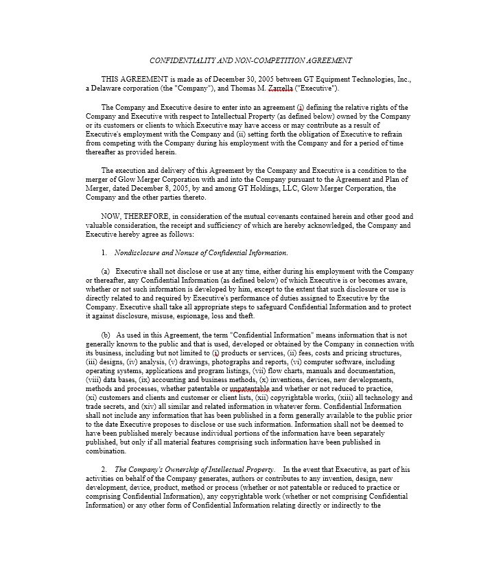 ReadyToUse NonCompete Agreement Templates  Free Template