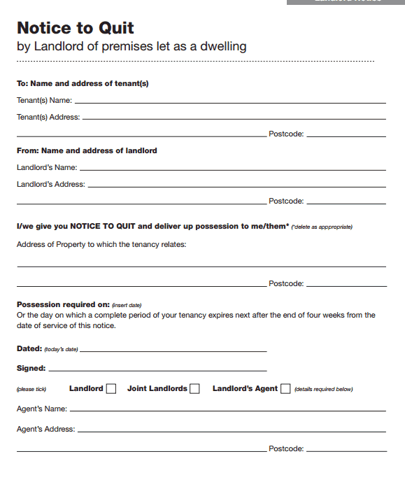 47 eviction notice templates sample letters free
