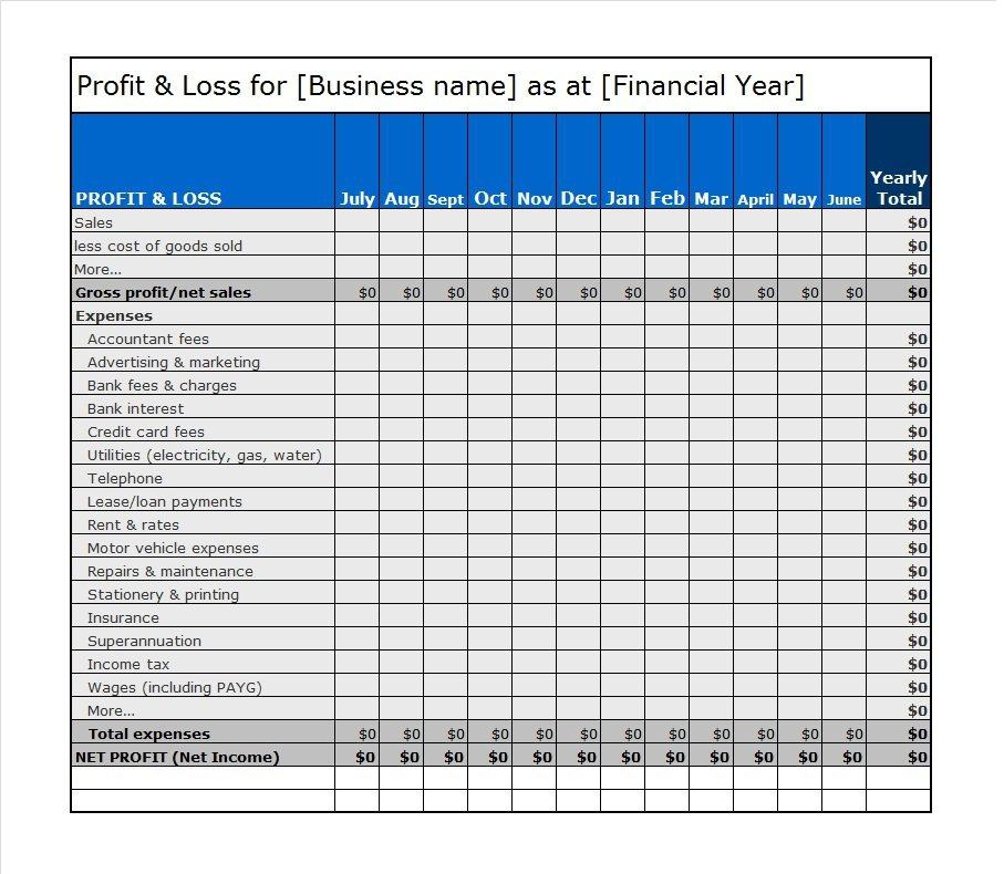Profit And Loss Statement Form Income Statement Template 27 27 – Free Profit and Loss Statement Template
