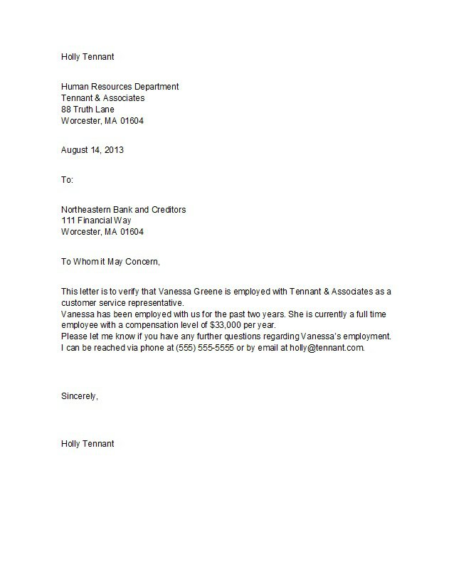 proof of employment letter 33