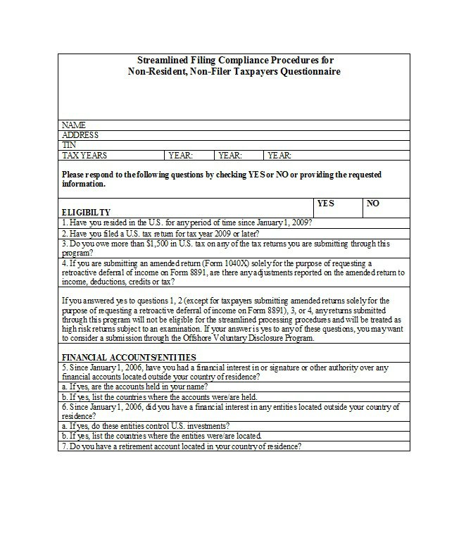 Questionnaire Template 10  Free Questionnaire Template Word