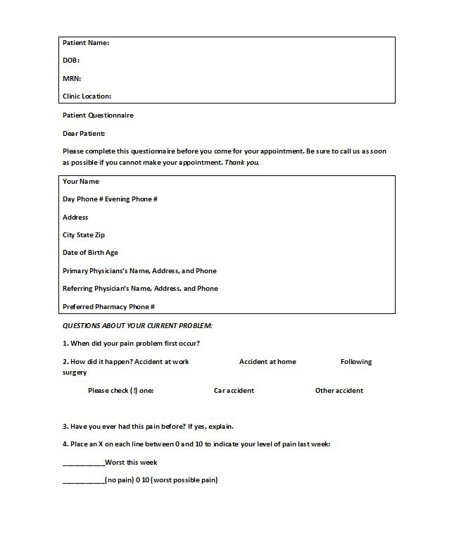 Questionnaire Template Word Doc  BesikEightyCo