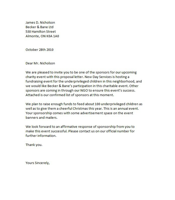Sponsorship Letter Template 05  Letter Of Sponsorship Template