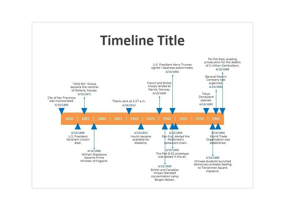 Free Timeline Templates Excel Power Point Word  Free