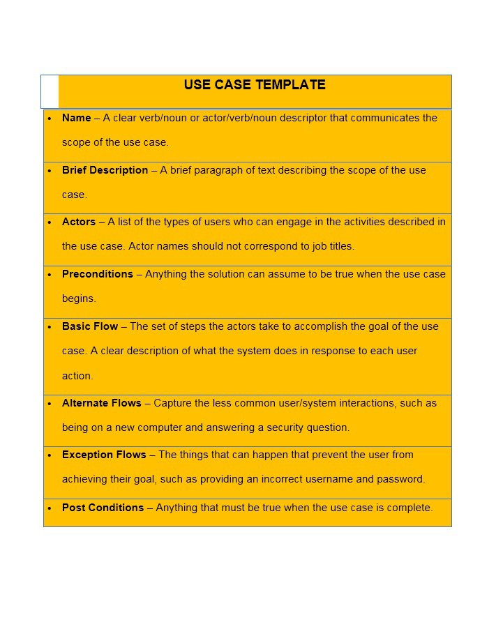 Use Case Template 06  Case Brief Template Word