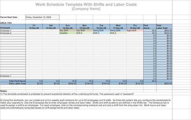 19 perfect daily work schedule templates free template downloads