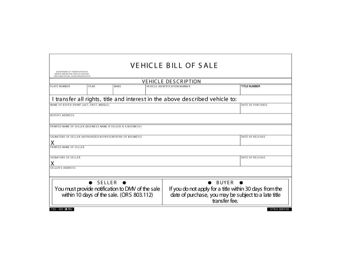 46 Fee Printable Bill of Sale Templates Car Boat Gun Vehicle