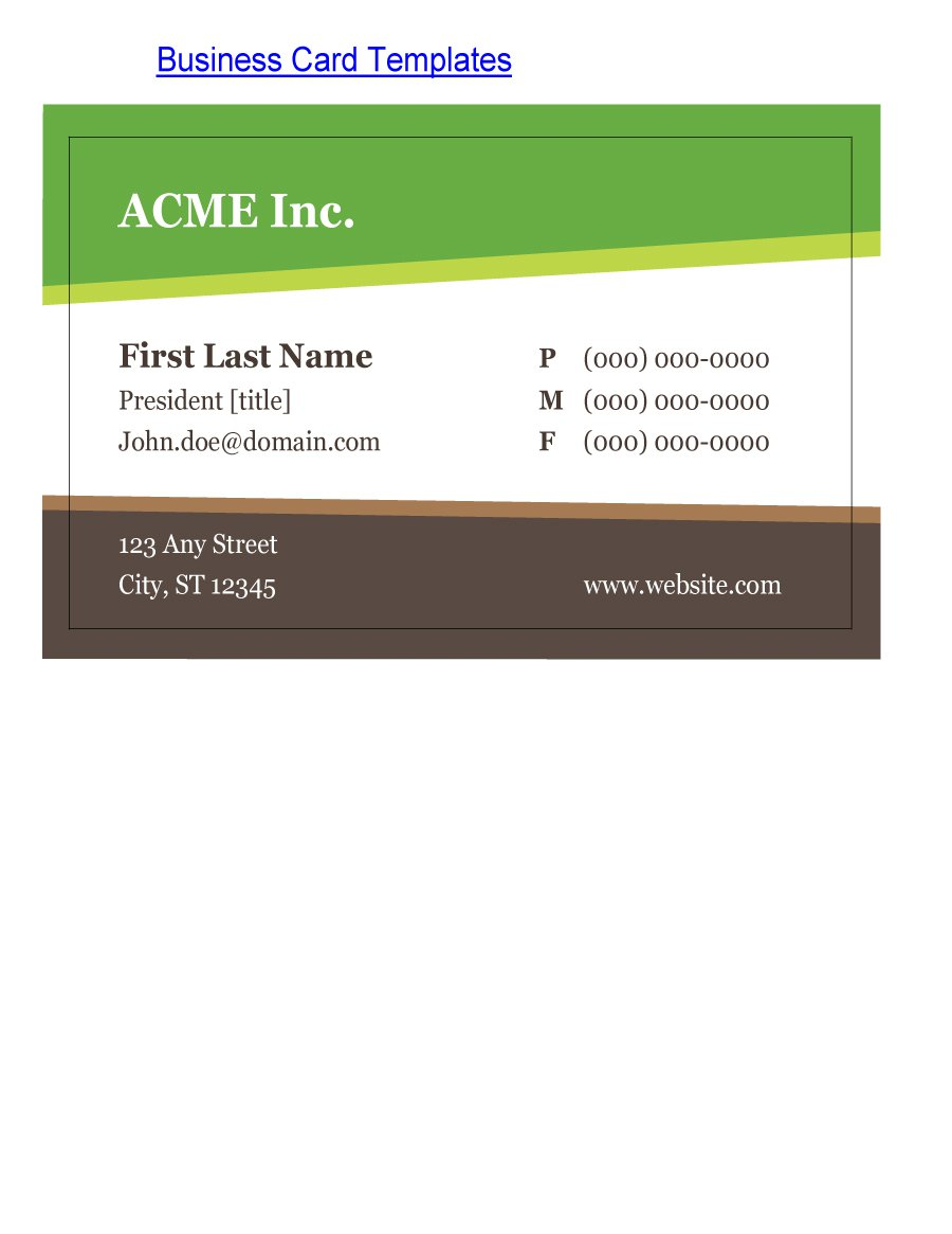 free business card templates cardzest