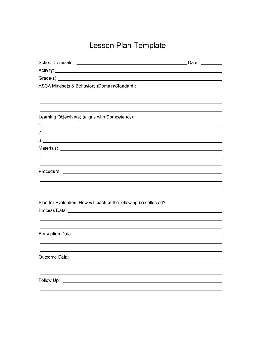 daily lesson plan template staruptalent com