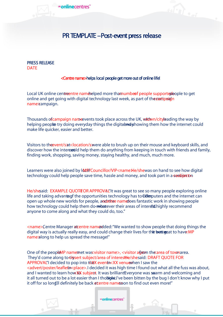 30 Free Press Release Templates   Free Template Downloads