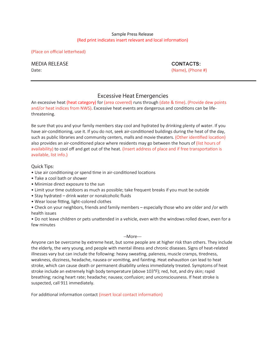 47 Free Press Release Format Templates Examples Samples Free – Press Release Template Sample