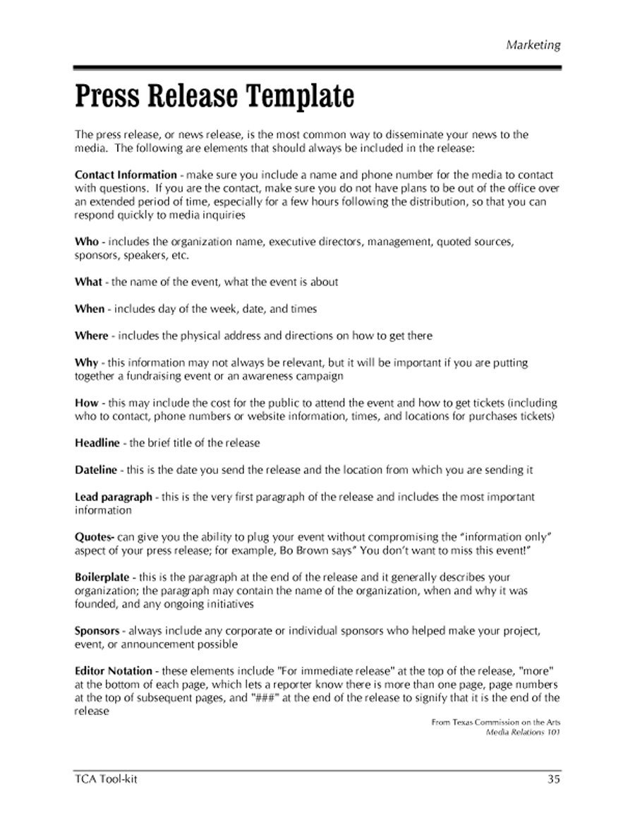 47 free press release format templates examples samples for Press release template for event
