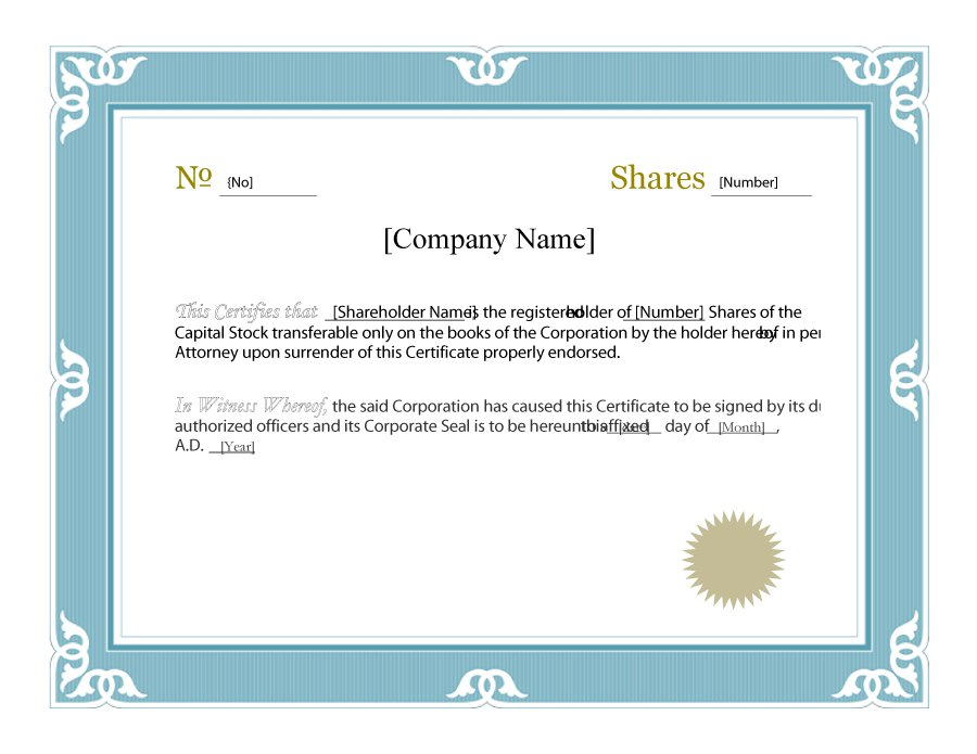 41 Free Stock Certificate Templates (Word, Pdf) – Free Template