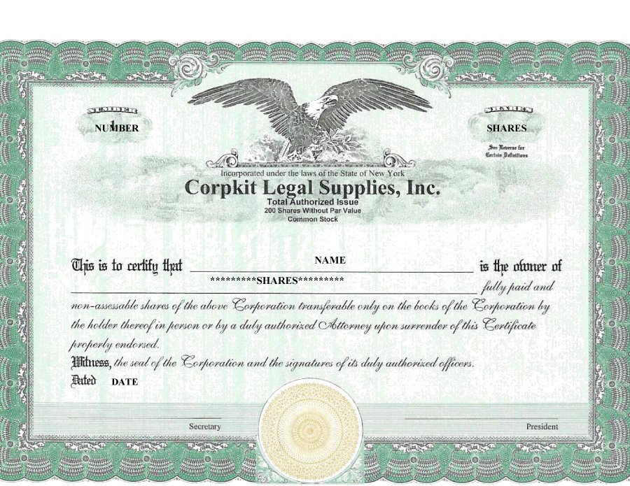 fresh free sample corporate stock certificate best free sample