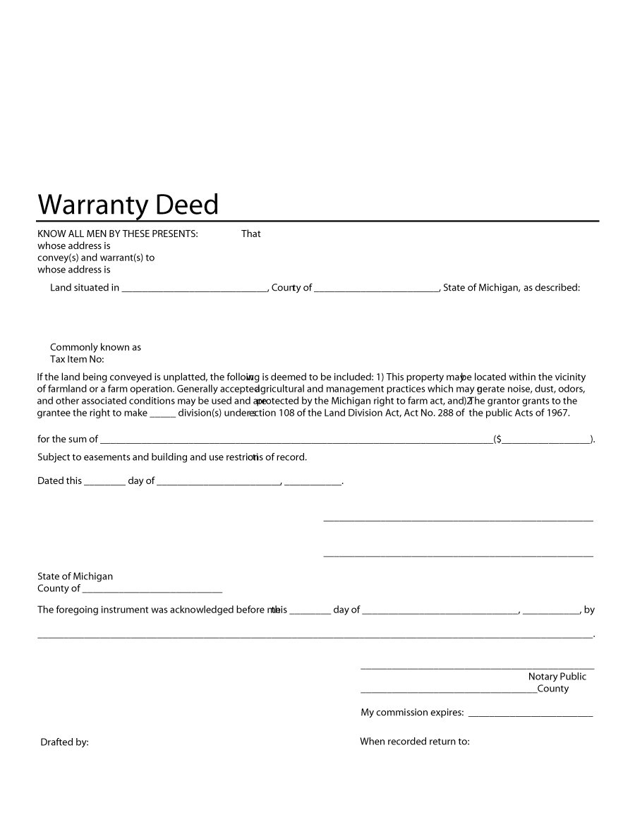 graphic regarding Printable Warranty Deed named 43 Totally free Ensure Deed Templates Sorts (All round, Distinctive