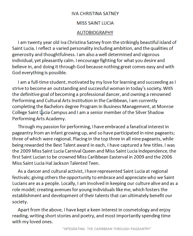 biography templates examples personal professional   biography sample 11 · autobiography example
