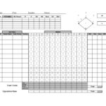 30+ Printable Baseball Scoresheet / Scorecard Templates