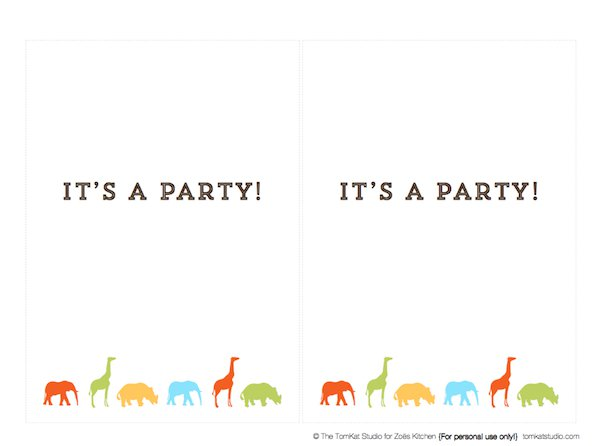 party invites templates free