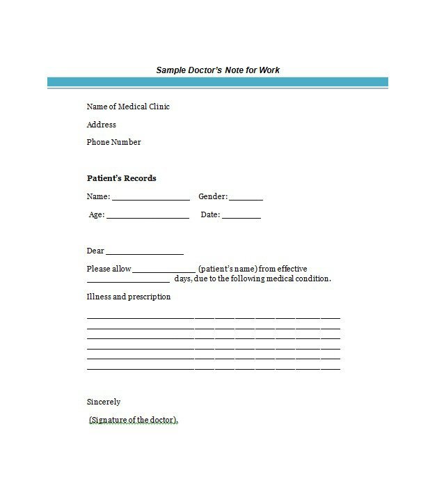 medical notes templates