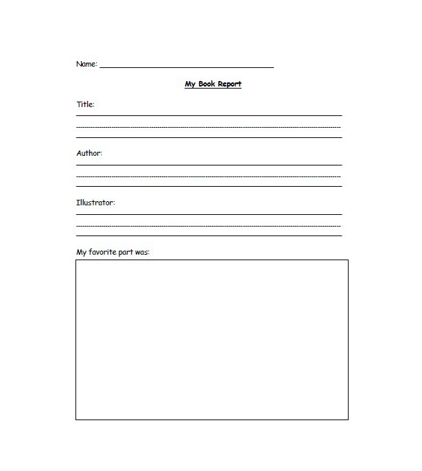 30 Book Report Templates & Reading Worksheets – Free Template ...