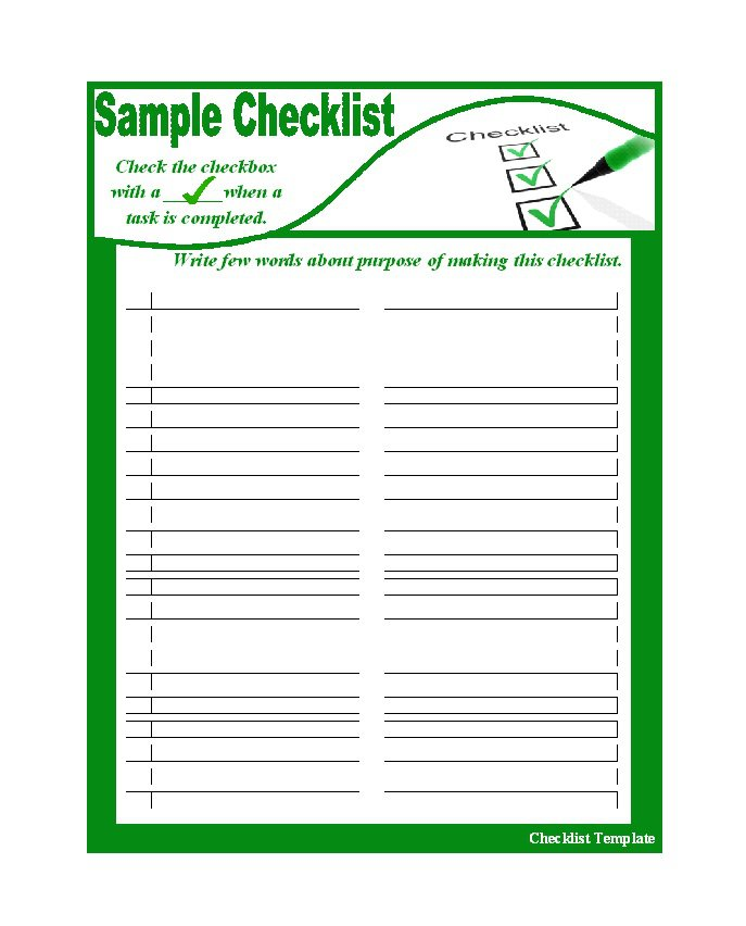51 Free Printable To Do List & Checklist Templates (Excel + Word