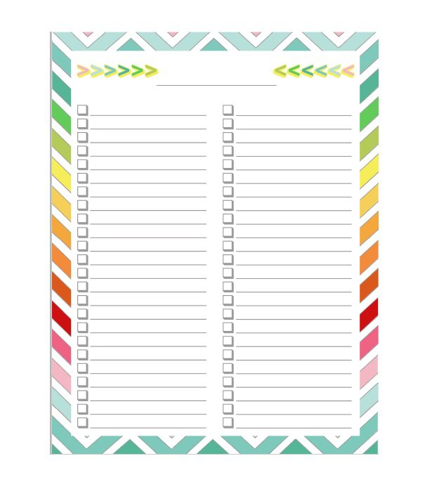 Weekly Checklist Templates to Download for Free