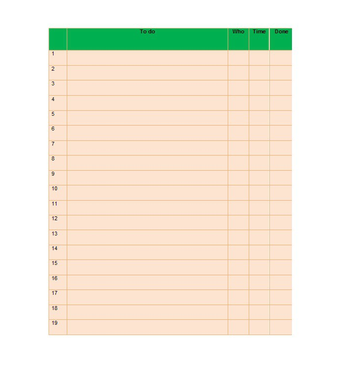 Checklist Template For Excel