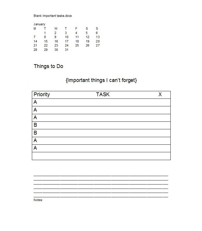 51 Free Printable To Do List Checklist Templates Excel Word