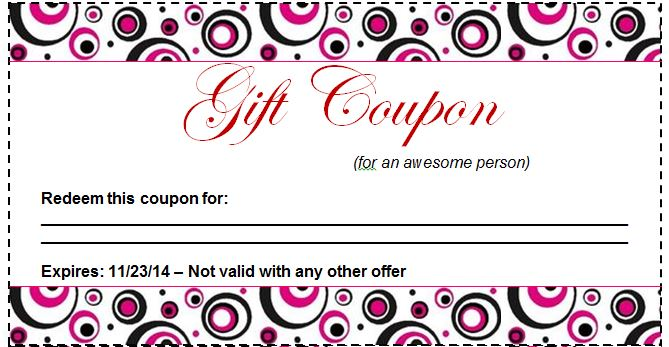 50 Free Coupon Templates Free Template Downloads – Microsoft Coupon Template
