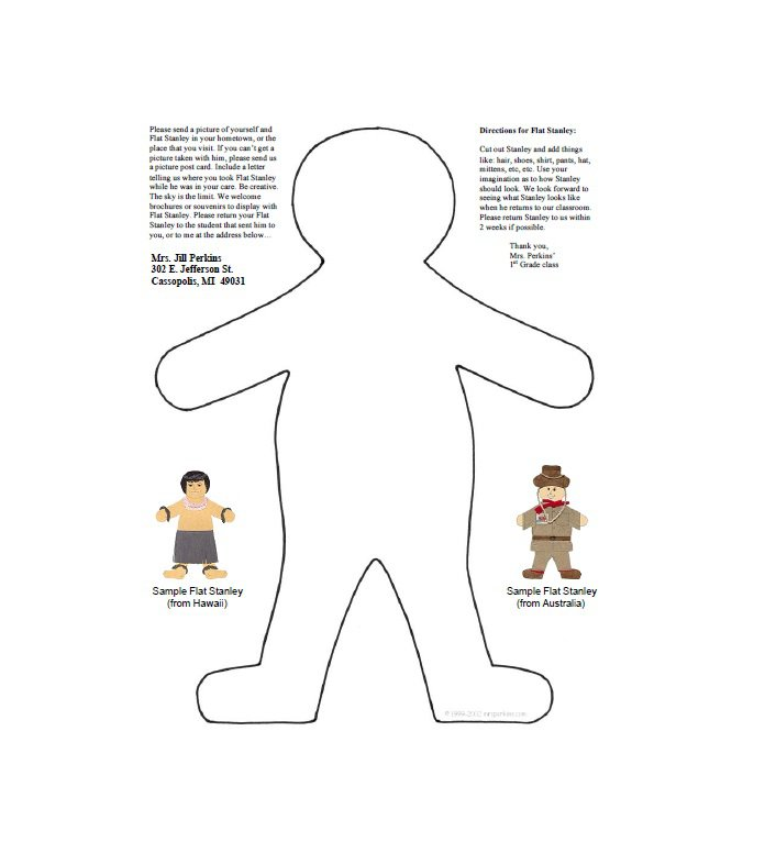 37 Flat Stanley Templates & Letter Examples – Free Template Downloads
