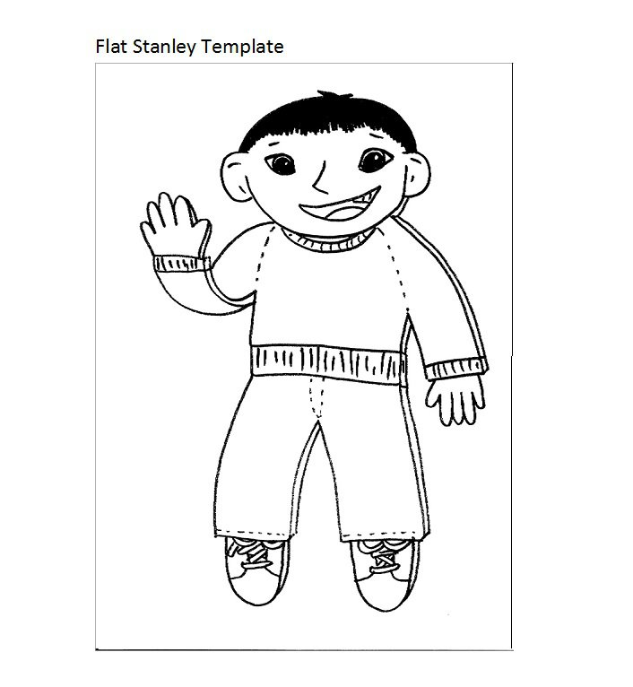 37 flat stanley templates letter examples free for Free printable flat stanley template