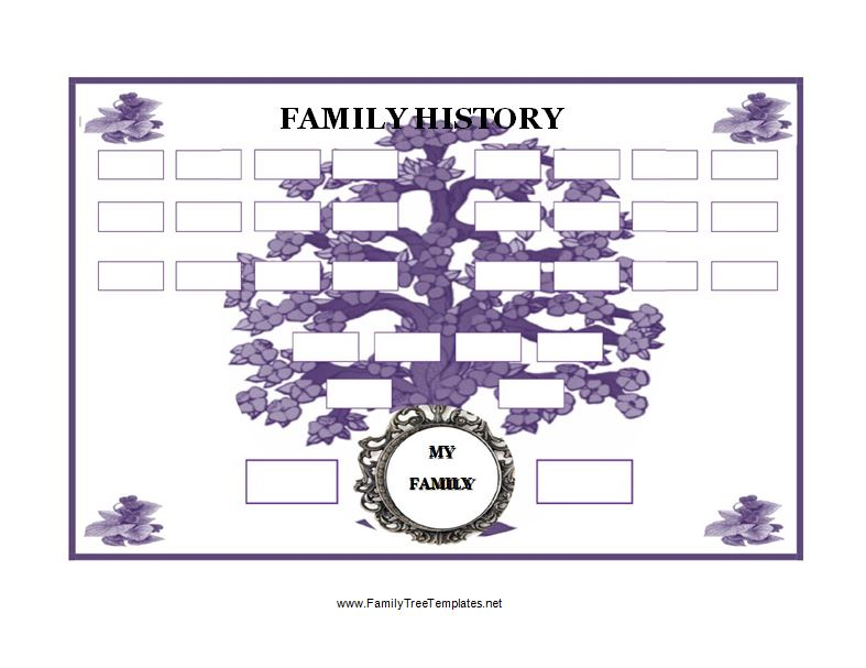 30 free genogram templates symbols free template downloads for Family history charts templates