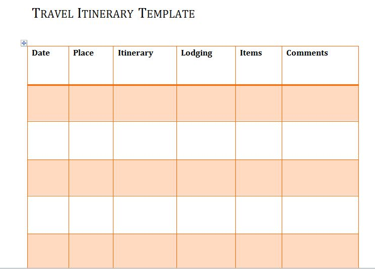 Itinerary Templates Travel Vacation Trip Flight  Free