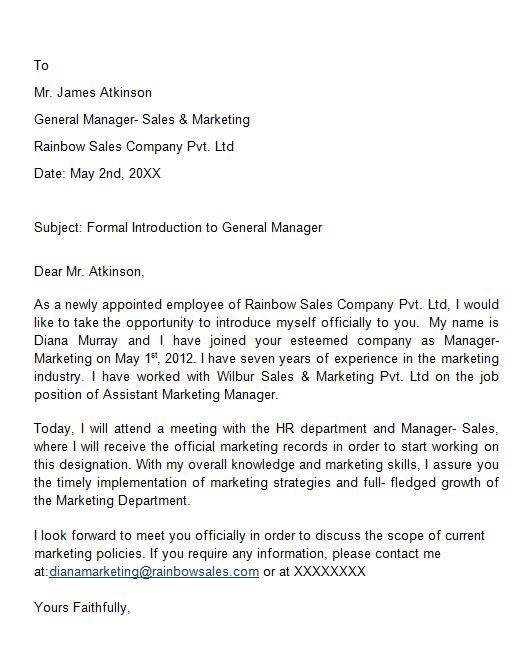 7 sales rep introduction letter  u2013 name