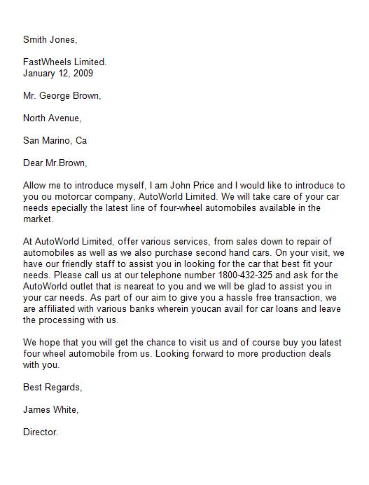 letter of introduction 39 - Job Letter Of Introduction