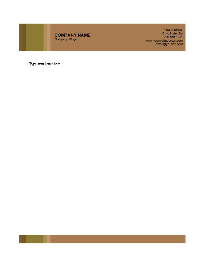 Letterhead Template 05  Business Letterhead Samples