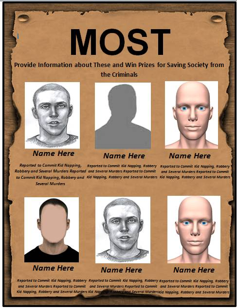Download Wanted Poster Template 04 · Most_wanted_poster_template_01 1  Most Wanted Poster Templates