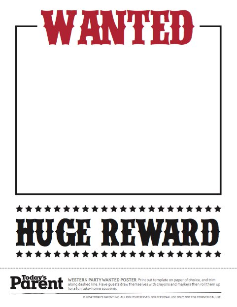 Old West Most Wanted Poster 011  Most Wanted Poster Templates