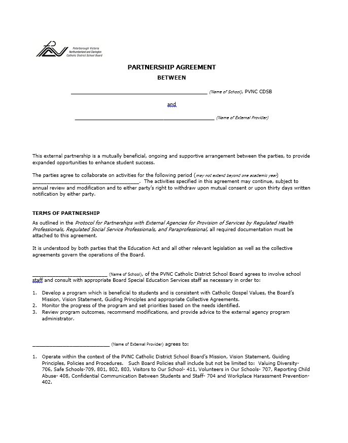 40+ Free Partnership Agreement Templates (Business, General