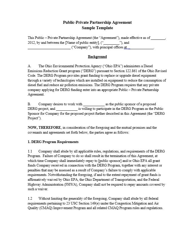 Partnership Agreement Template 35  Partnership Agreement Free Template