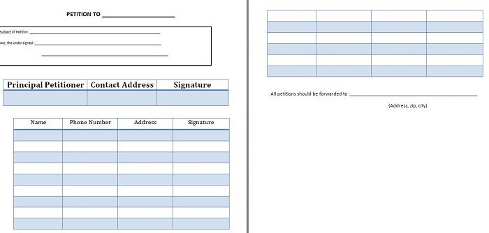 Free Petition Templates How To Write Petition Guide  Free