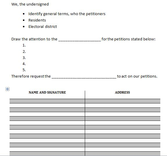Stunning Printable Petition Template Gallery  Example Resume