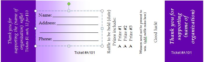 Free Editable Raffle  Movie Ticket Templates  Free Template