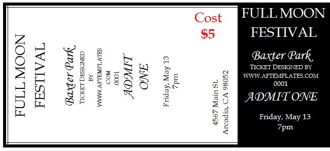 41 free editable raffle movie ticket templates free for Free printable raffle ticket template