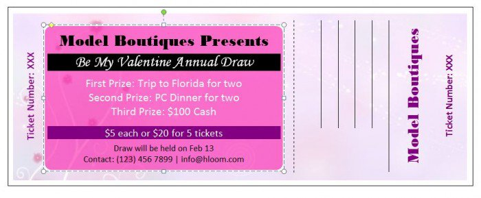 Raffle Ticket Templates 25 E1445570930850  Movie Ticket Template Free
