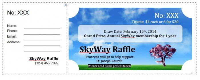 41 Free Editable Raffle & Movie Ticket Templates – Free Template