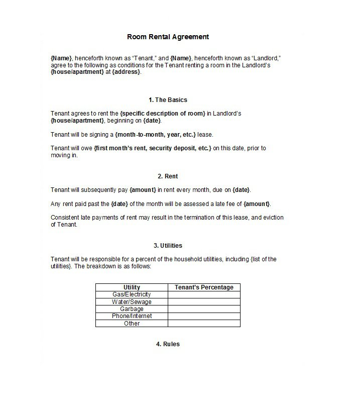 Rental Application Template 11  House Rental Agreement Template