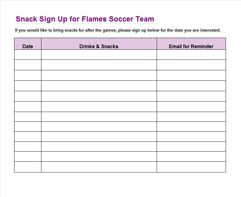 Doc600730 Event Sign in Sheet Template Event Sign In Sheet – Excel Sign in Sheet Template